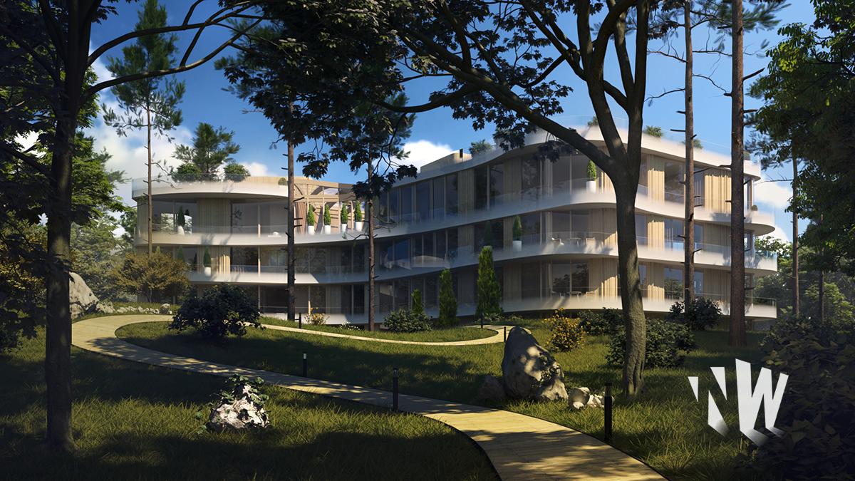создание 3D визуализации отеля