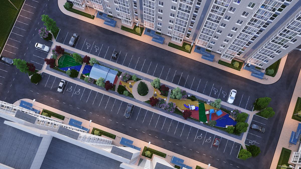 дизайн двора многоквартирного дома