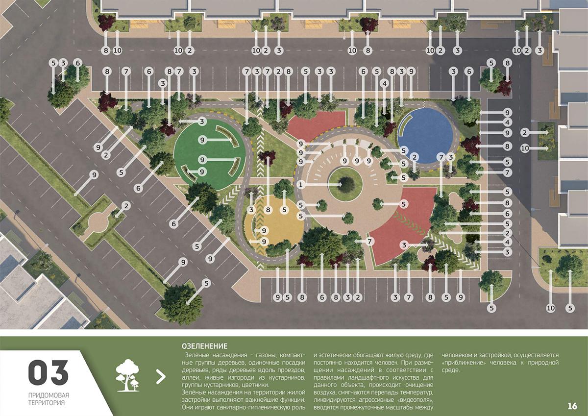 ландшафтный дизайн придомовой территории многоквартирного дома